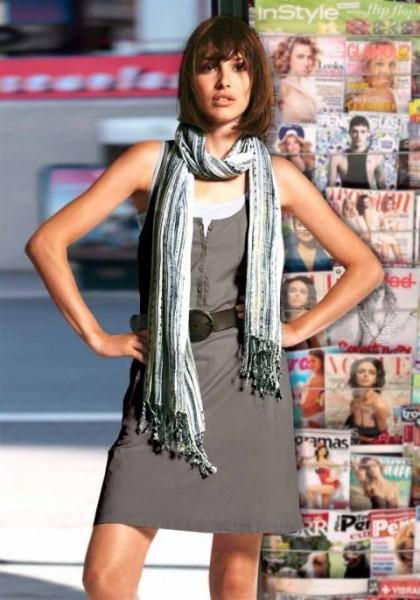 2-in-1-Kleid, grau-weiß von Chillytime