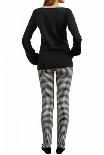 Hahnentrittmuster-Hose, schwarz-weiß von APART