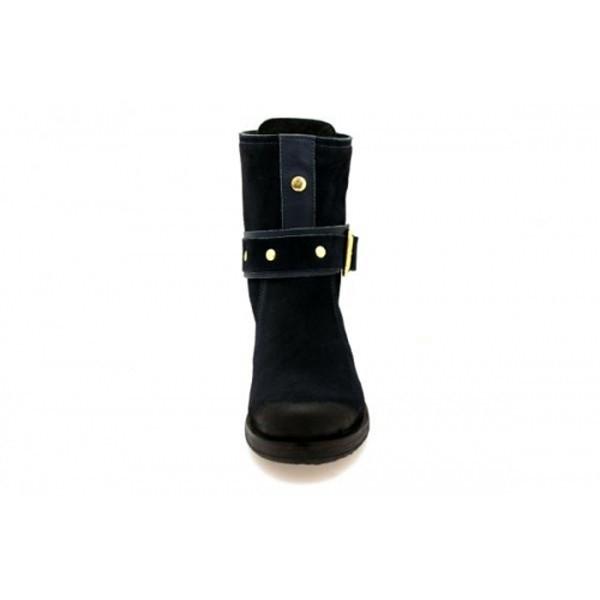 Nice Feet - Schnürstiefelette - NF1404-008 Azul Navy
