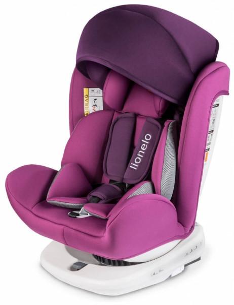 Lionelo Bastiaan Auto Kindersitz mit Isofix Autositz Lila
