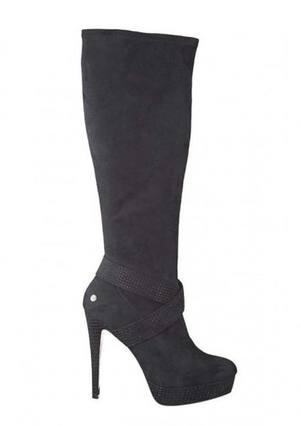 Stiefel mit Steinen, schwarz von Melrose