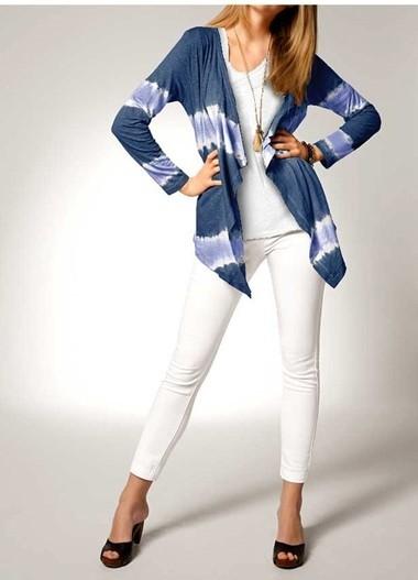 Batik-Jerseyjacke, blau von Heine