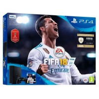 Play Station 4 Slim + FIFA 2018 (World Cup) Sony 9429470 500 GB (3 pcs) Schwarz