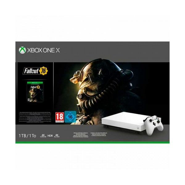 Xbox One X + Fallout 76 53518 1 TB 4K HDR Weiß