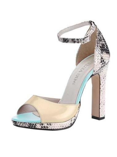 Sandalette, ecru von PATRIZIA DINI