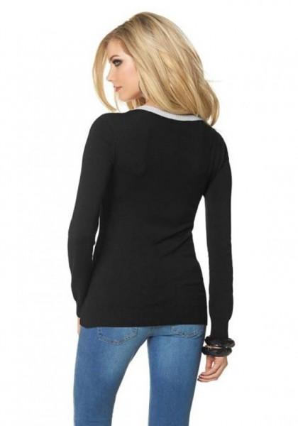 Pullover, schwarz-ecru von Melrose