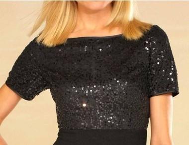 Abendkleid mit Pailletten, schwarz von APART