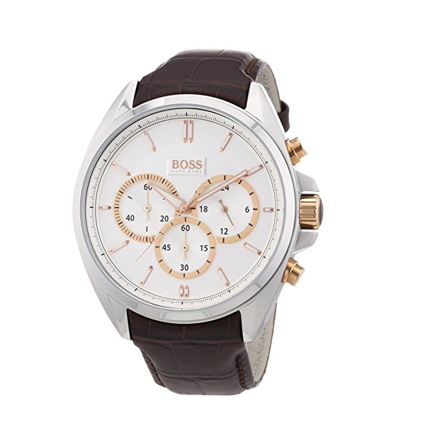Hugo Boss Herrenuhr 1512881 Chrono Leder