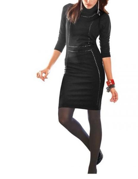 Kleid mit Steinen, schwarz von Aniston