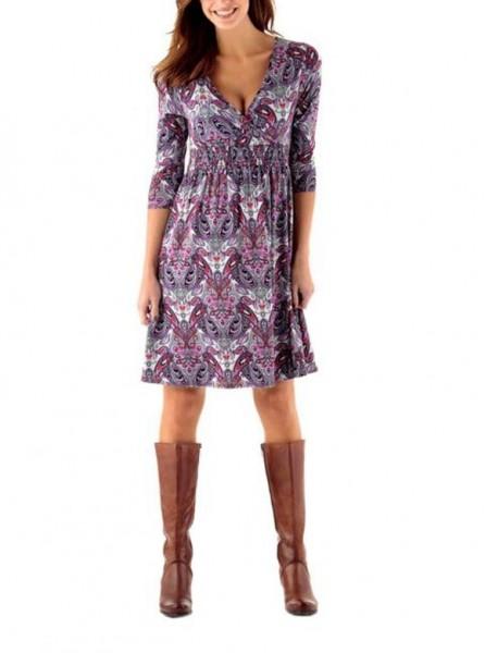 Jerseykleid, lila-bunt von Tamaris
