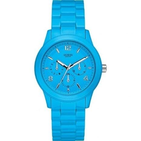 Guess W11603l5 Unisex Armbanduhr Blau