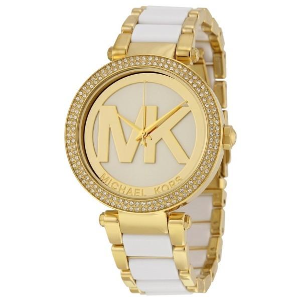 Michael Kors MK6313 Damenuhr Farbe Gold & Weiss