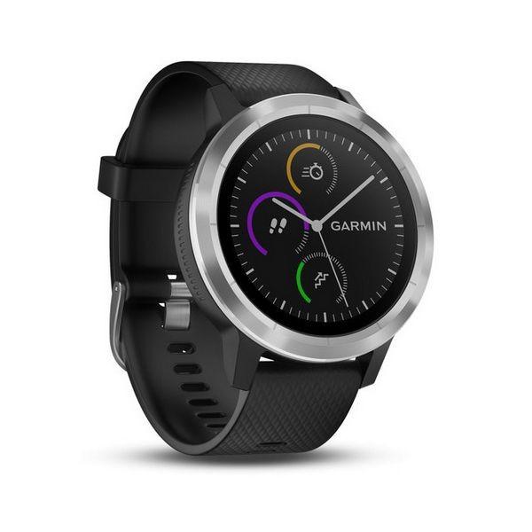 """Smartwatch GARMIN Vivoactive 3 1,2"""" GPS Waterproof 5 ATM Glonass Schwarz Edelstahl"""