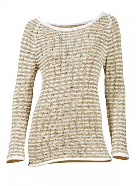 Bändchengarn-Pullover, weiß-beige von Heine - Best Connections