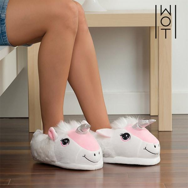 Einhorn Pantoffeln Damen Schlappen Kuschel Hausschuhe