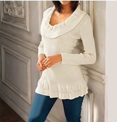 Pullover, ecru von Linea Tesini