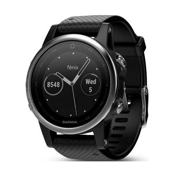 Smartwatch GARMIN FENIX 5S GPS 10 ATM Silber Schwarz