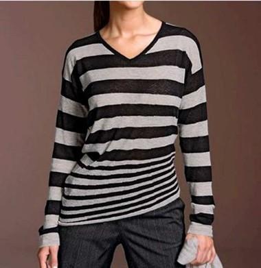 Pullover, grau-schwarz von Strenesse Blue