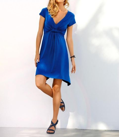 Kleid, blau von Rick Cardona