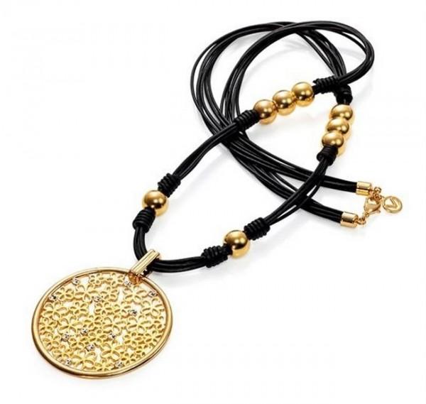 VICEROY Damen-Halskette GILD. Leder SRA FASHION, 3126C09012