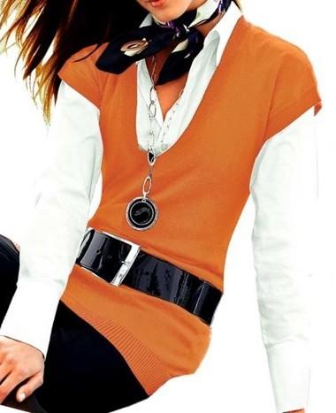 Longpullover, orange von Heine