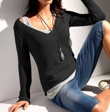 Pullover, schwarz von Rick Cardona