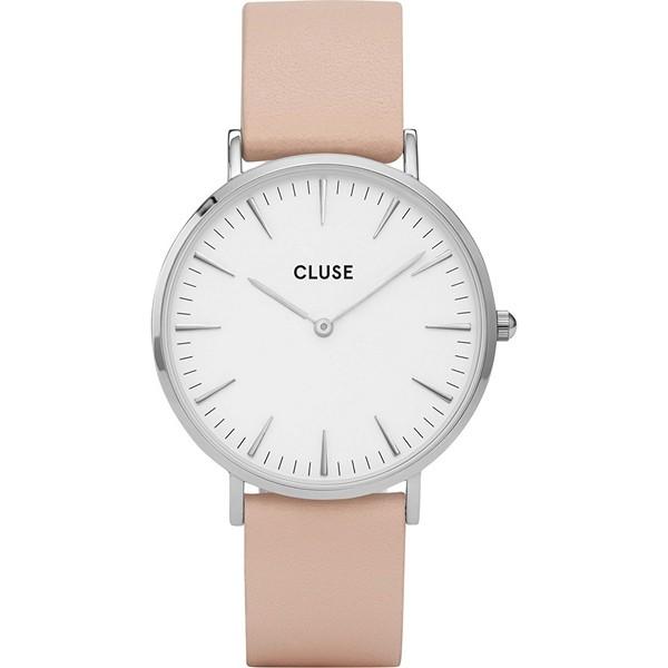 Cluse Damenuhr Leder CL18231 Farbe Rosa & Silber