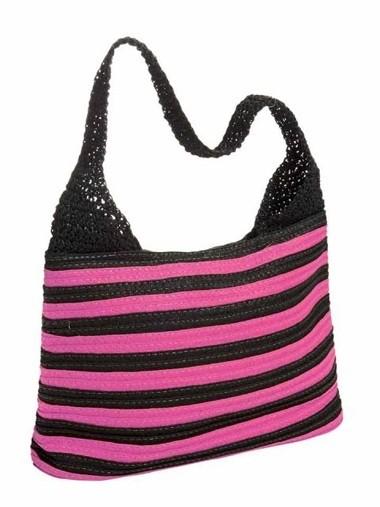 Tasche, pink-schwarz von Heine