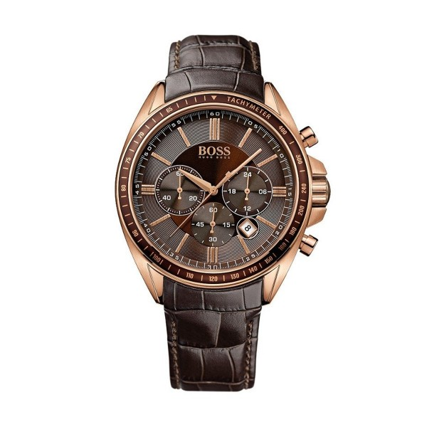 Hugo Boss Herrenuhr Chrono 1513093 Braun