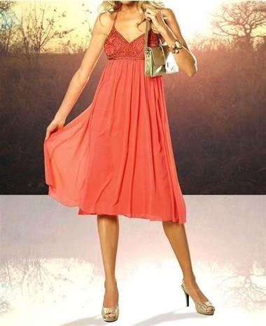 Babydoll-Abendkleid hummer-gold von APART
