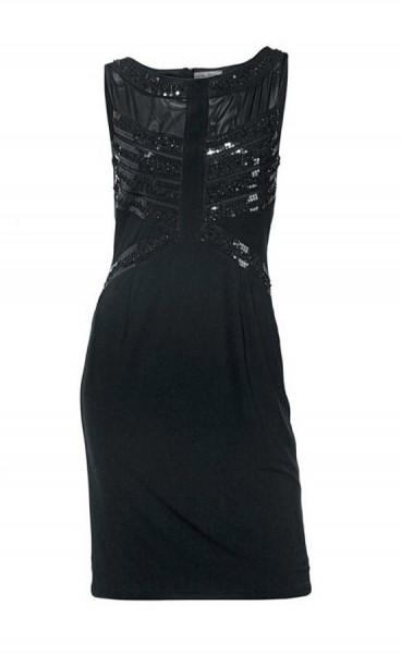 Kleid mit Pailletten, schwarz von Ashley Brooke