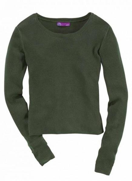 Pullover, olivgrün von AJC