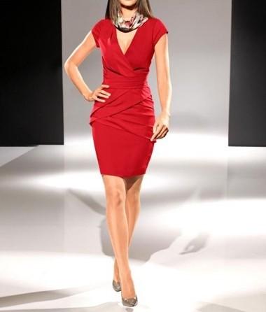 Kleid, rot von PATRIZIA DINI