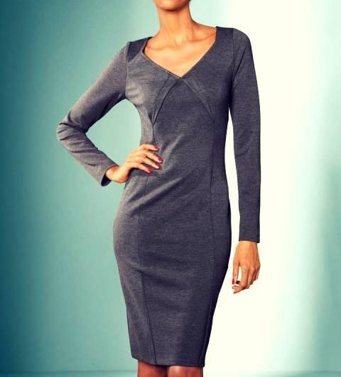 Kleid, anthrazit von S. Madan