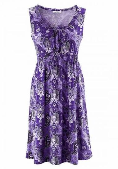 Kleid, flieder-schwarz von Tom Tailor
