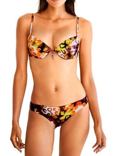 Push-up-Bikini, bunt von Heine