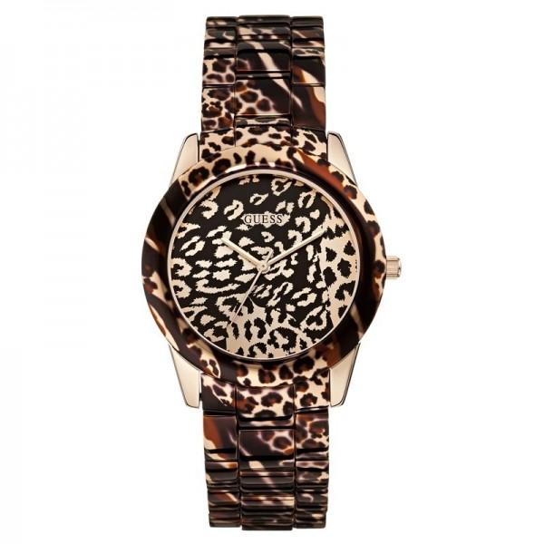 Guess W0425L3 Damenuhr Leoparden Look