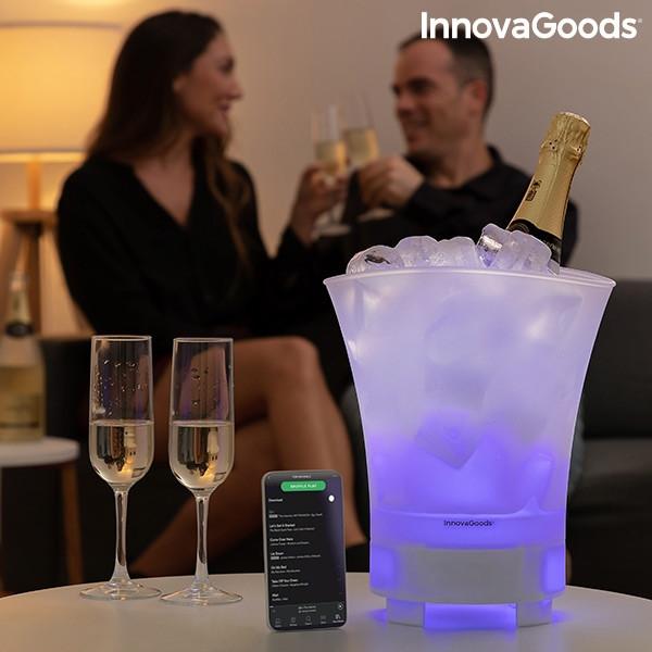 Weinkühler Eiseimer Eiskübel mit LED Beleuchtung & Bluetooth Lautsprecher