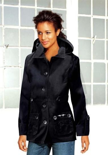 Wattierte Marken-Jacke, schwarz von Kangaroos
