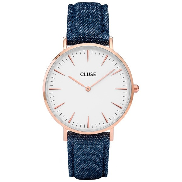 Cluse Damenuhr CL18025 Farbe blue jeans & Weiss