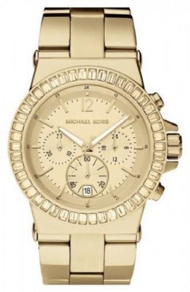 Michael Kors MK5861 Damenuhr Chrono Farbe Gold