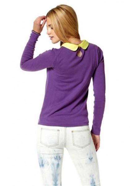 Pullover, lila-gelb von AJC