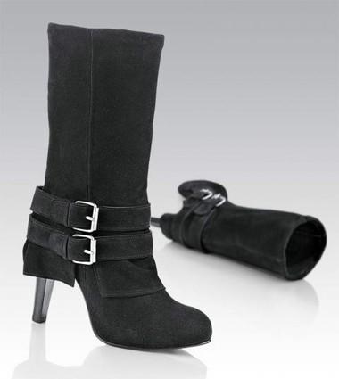 Stiefel mit Schnallen schwarz von DAVID TYLER