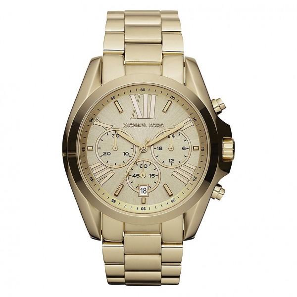 Michael Kors Damen Armbanduhr XL Bradshaw Chronograph MK5605