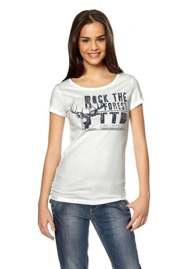 T-Shirt weiß von Tom Tailor