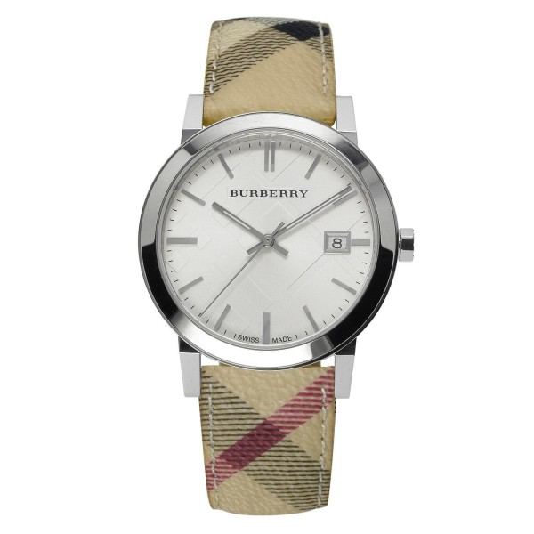 Burberry Damen Armbanduhr Swiss Haymarket BU9025