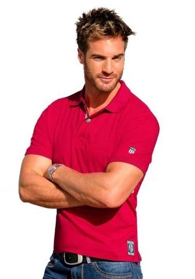 Poloshirt, rot von Rhode Island