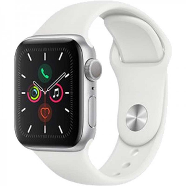 Apple Watch Series 5 32GB Silber Sportarmband