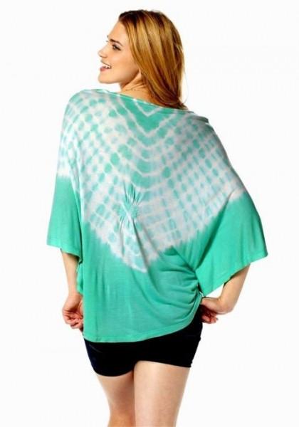 Fledermaus-Shirt, mintgrün von FUGA