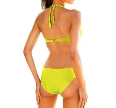 Push-Up-Bikini, lemongrün von Heine